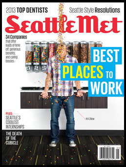 Cover of Seattle Met Magazine with Best Places to Work headline