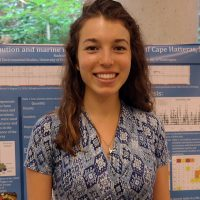 Rachael with her research poster