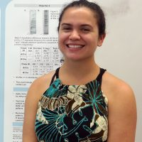 Brittany at the intern poster session