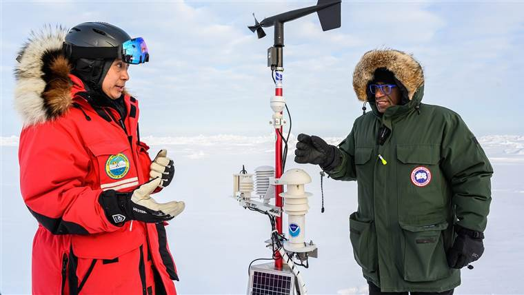 Ignatius Rigor with Al Roker in the Arctic