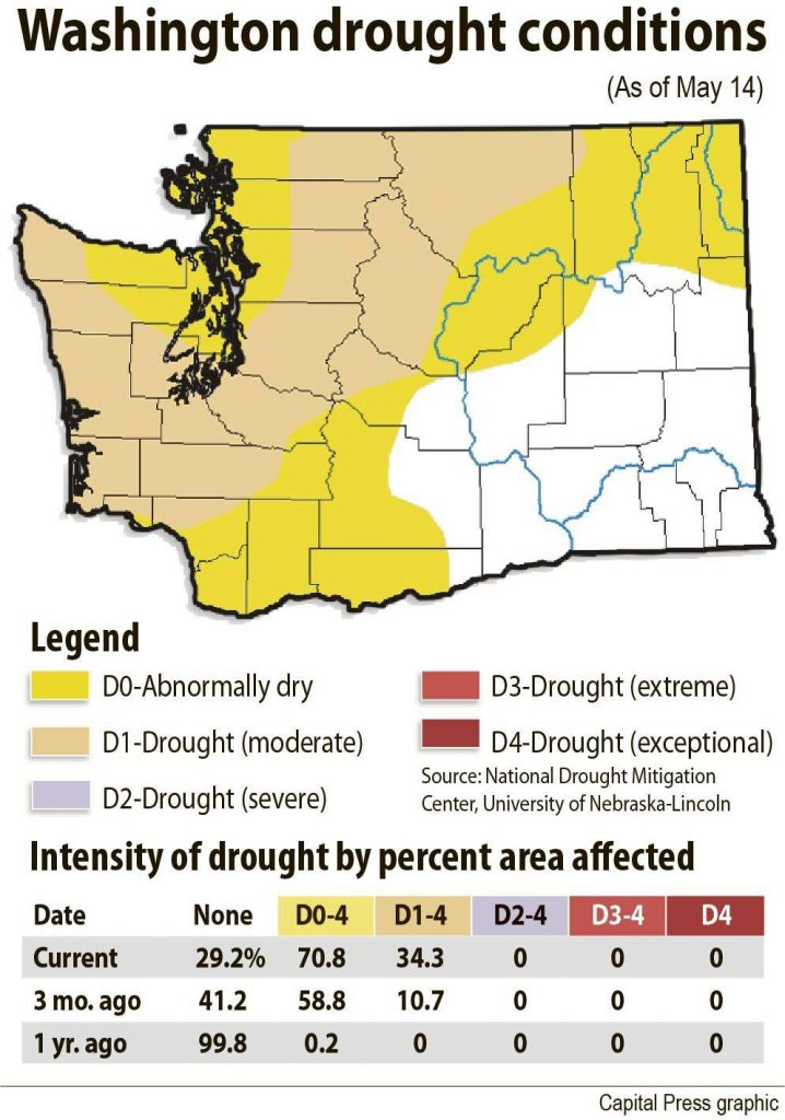 WA drought map