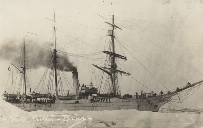 Ship and ice near Nome, Alaska in 1918