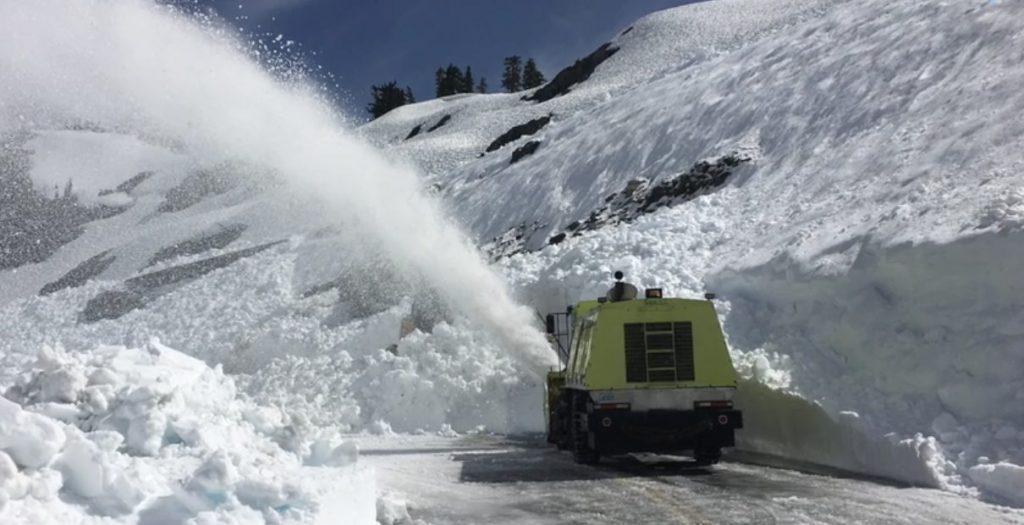 Snow removal near Mt. Baker