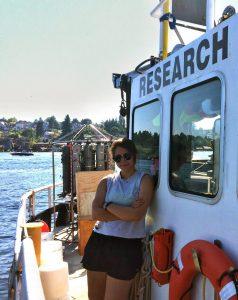 Anita on research vessel