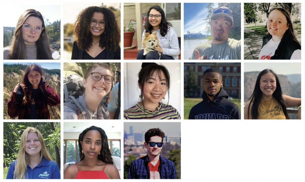 Collage of 2021 CICOES interns